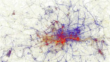 Locals and Tourists visualisation London