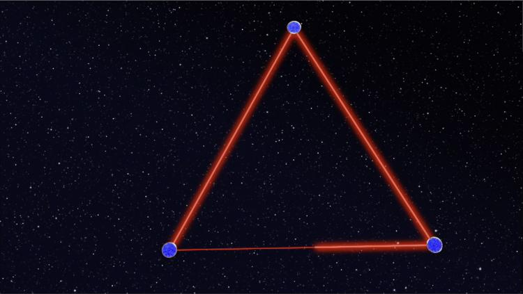 Schematic LISA triangle